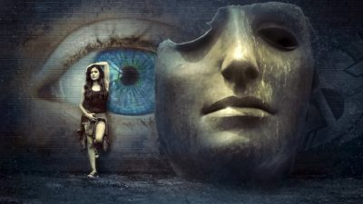 kobieta i maska